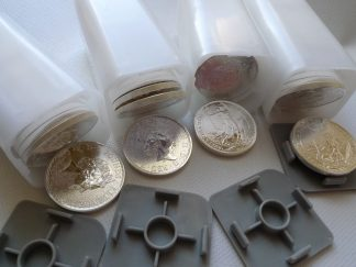 tubes 100 ounces silver coins