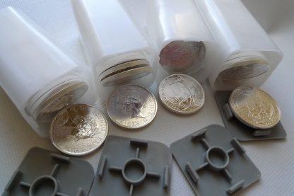 tubes 100 ounces silver coins