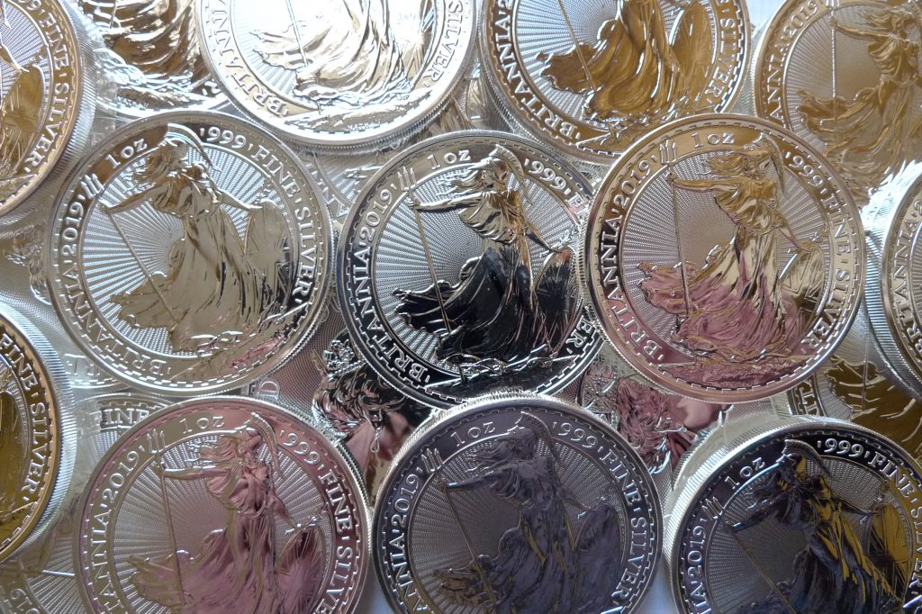 UK Britannia silver bullion coins
