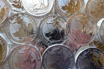 UK Britannia silver bullion coins