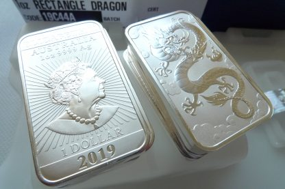 1oz silver bullion bars 2019 dragon
