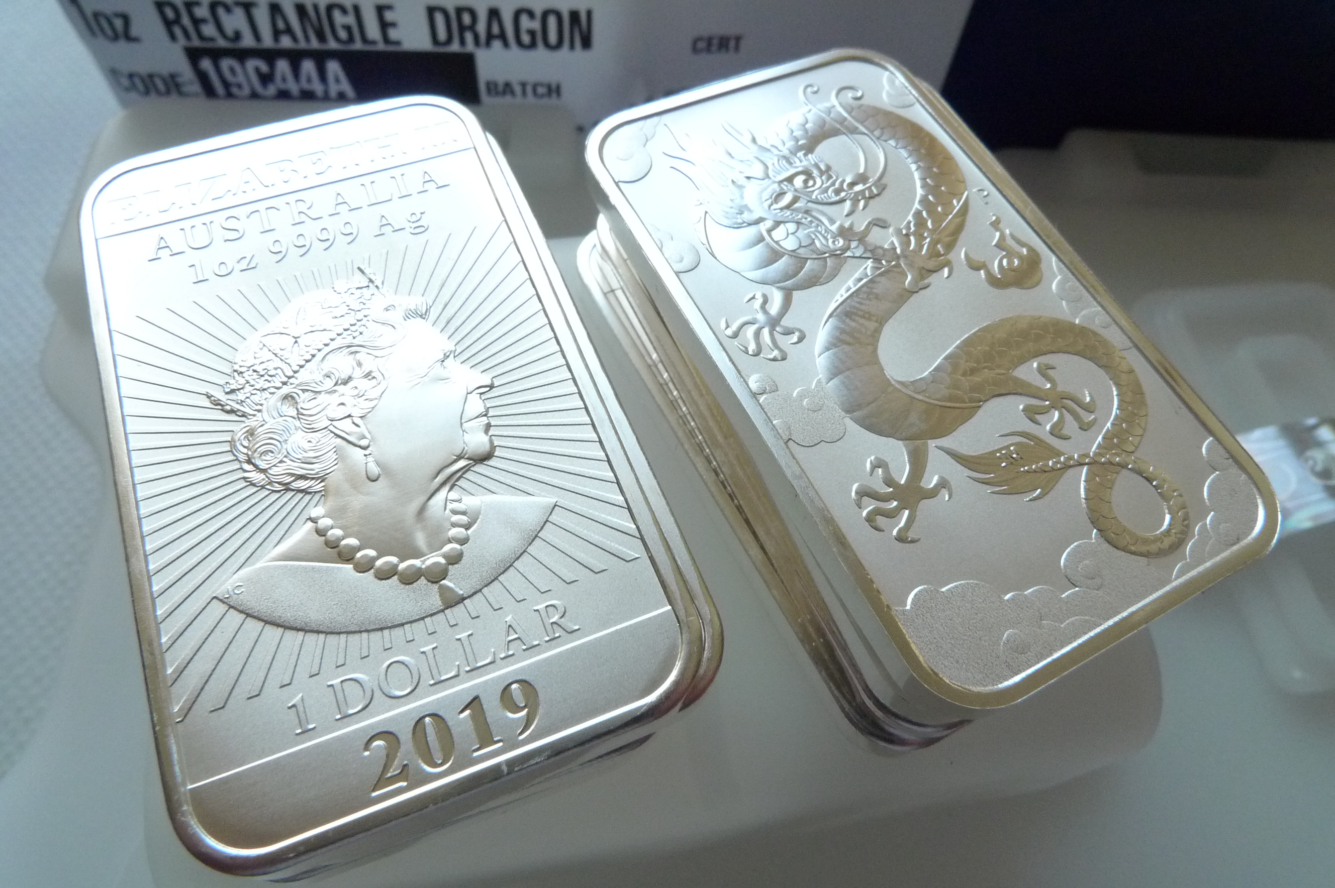 silver coins or bars