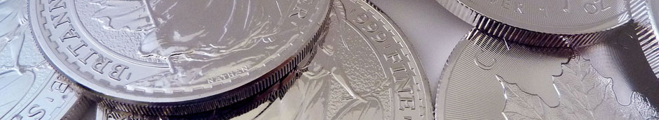 silver bullion one troy ounce coins