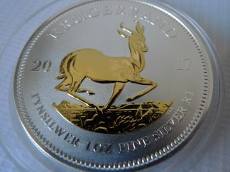 Krugerrand bullion coin gold gilded silver bullion coin