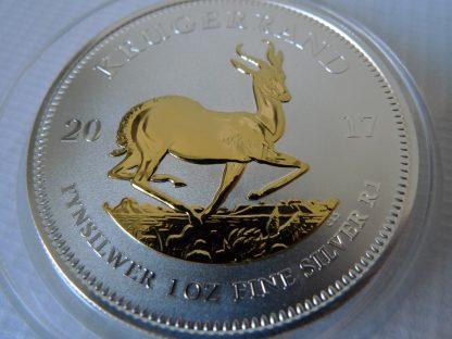 Krugerrand bullion coin gold gilded silver bullion coin