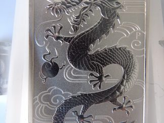 2018 Dragon 1oz silver bullion bars